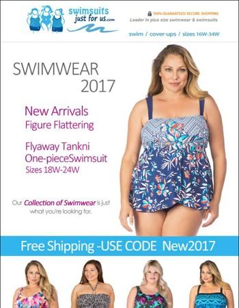 Vacation Ready! New 2017 Plus Size Swimwear plus Free Shipping