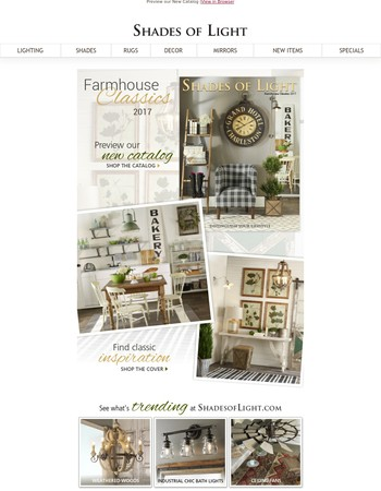 See our Newest Catalog: Farmhouse Classics 2017