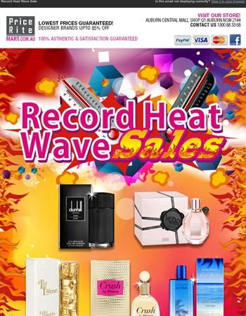 Record Heat Wave Sales