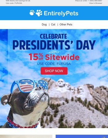 Save 15% off sitewide! Presidents' Day Sale ends today