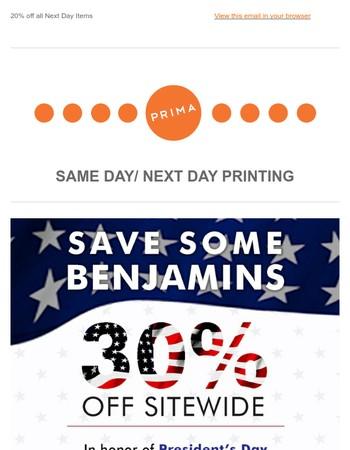Save some Benjamins!