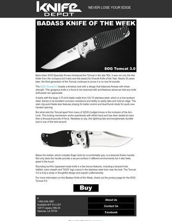 Badass Knife of the Week - SOG Tomcat 3.0