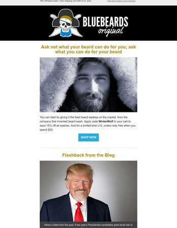 Ask what you can do for you BEARD / 15% Off Beard Wash + FREE U.S. SHIPPING (details inside)