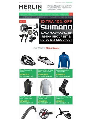 Monday Mega Deals! Get 10% off Shimano Dura Ace R9100 Groupset + More!