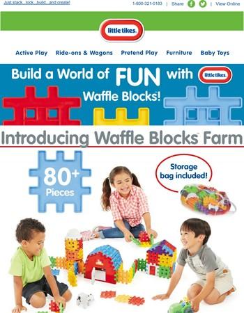 Introducing Little Tikes Waffle Blocks Farm!