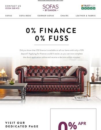 0% Finance, 0% Fuss