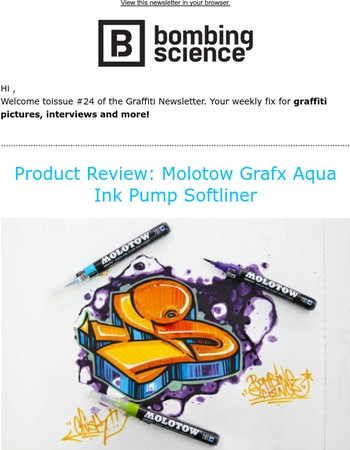 Product Review: Molotow Grafx Aqua Ink Pump Softliner, ...