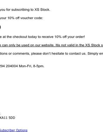 Here's your 10% off voucher code!