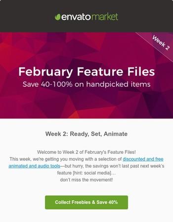 Feature Files Week 2: Exclusive Freebies + Discounts Inside