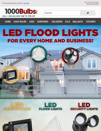Limited Time: Flood Lights Starting at $3.99