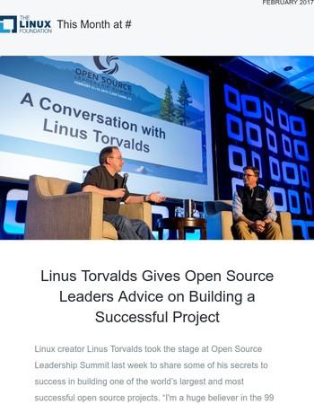 Watch: Linus Torvalds Talks Open Source Project Success