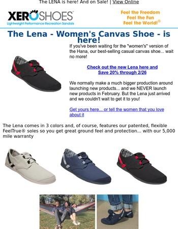 NEW from XERO -- The LENA women's canvas shoe...
