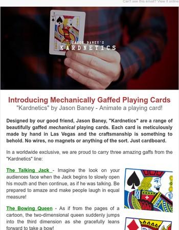 Mechanically Gaffed Playing Cards