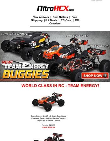 New World Class Team Energy Buggies & Trucks!