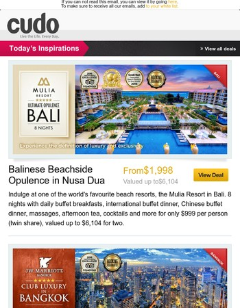 Five-Star Mulia Resort Bali | JW Marriott Luxury Bangkok | Ultimate Glamour in Goa, India | 5-Star Mykonos Escape | Six-Star Luxury in Vietnam | Beyond Resort Khao Lak