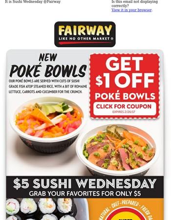 Lunch = $5 Sushi