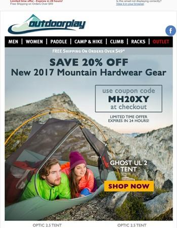Save 20% Off - New 2017 Mountain Hardwear Gear