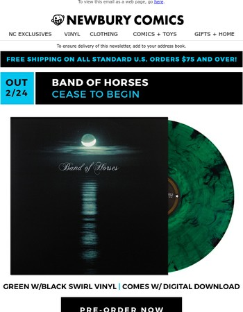 Band of Horses Vinyl Exclusive!