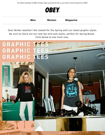 SPRING GRAPHIC TEES + ART IN AD PLACES