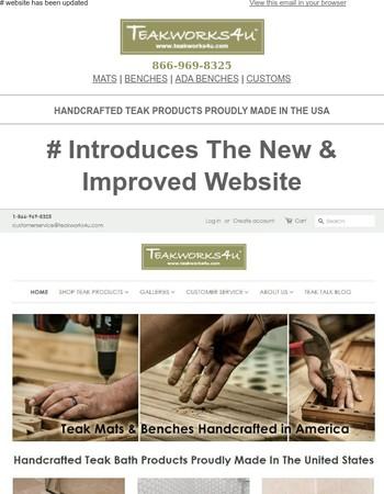 Teakworks4u New Website Launching February 22