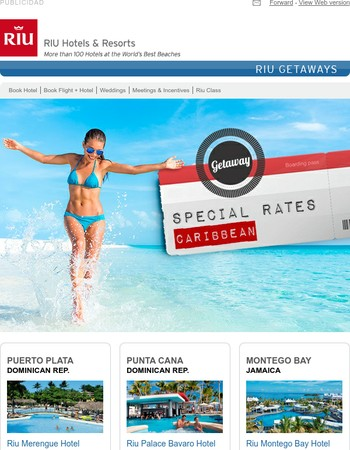 Special Rates! Choose your Resort in the Caribbean from 55 USD