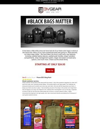 Yes, Black Bags Matter