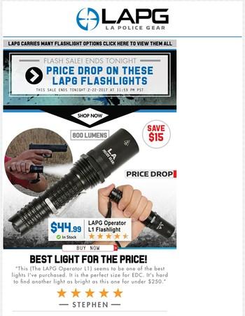 LAPG Flashlight Price Drops
