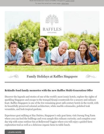 Family Holidays at Raffles Singapore