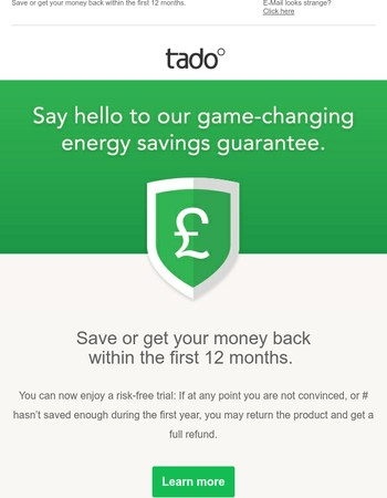Say hello to our game-changing energy savings guarantee