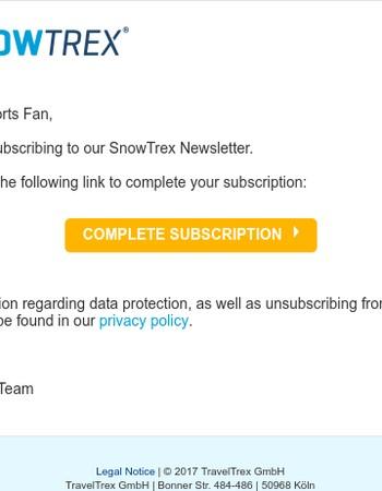 SnowTrex Newsletter