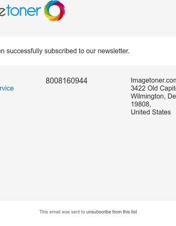 Newsletter subscription success
