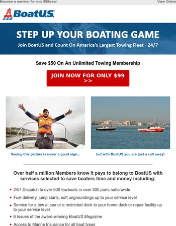 Take Advantage of a Special Offer from BoatUS!