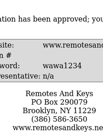 Remotes And Keys Registration Approval