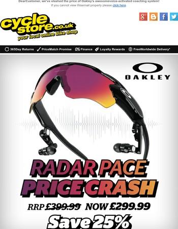 Oakley Radar Pace Price Crash - Save 25% at Cyclestore.co.uk