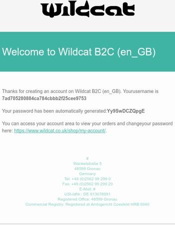 Your account on Wildcat B2C (en_GB)