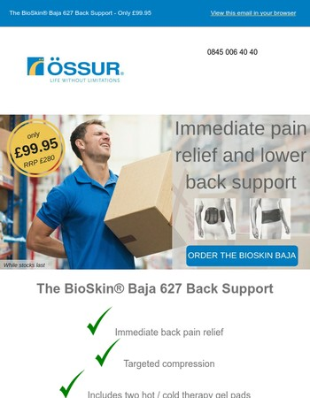 The BioSkin® Baja 627 Back Support - Only £99.95