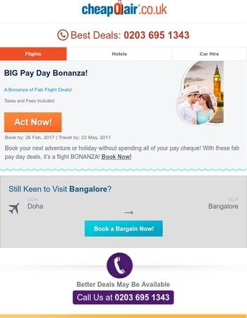 ✈ BIG Pay Day Bonanza Inside! Act Fast