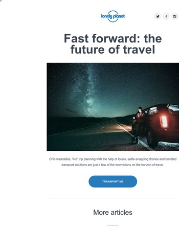 Fast forward: the future of travel