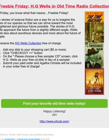 ☛ Old Time Radio Freebie Friday: HG Wells ☚