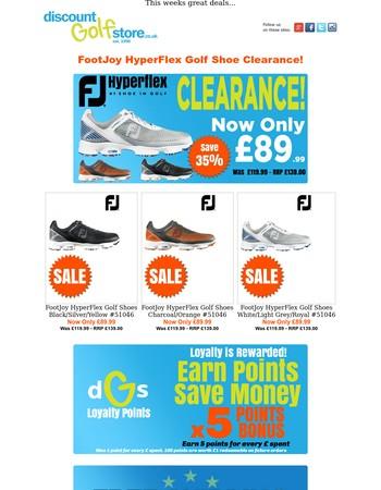 FootJoy HyperFlex Golf Shoe Clearance!