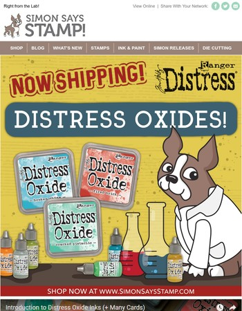 New Tim Holtz Distress Oxide Inks!