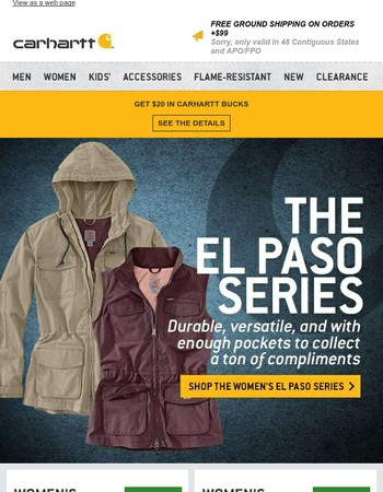 Presenting the women's El Paso series