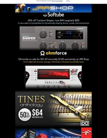 Softube, Ohm Force, UVI, IK Multimedia, & Spitfire Audio | Last chance for February deals