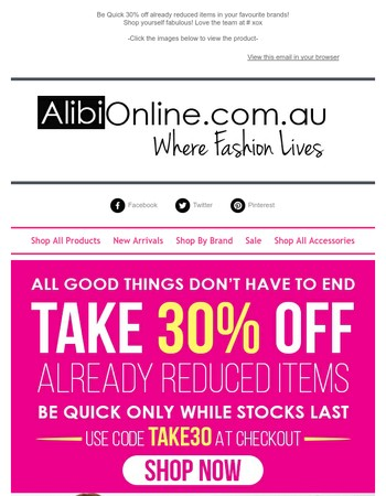 End of Season Sale |Take an extra 30% Off