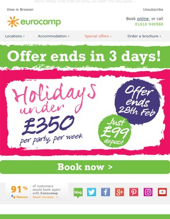 Be quick! Offer ends in three days