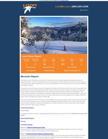 Loon Sunday Snow Report