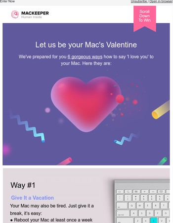 Let us be your Mac's Valentine