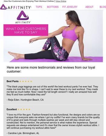 Customer Reviews of Affitnity...