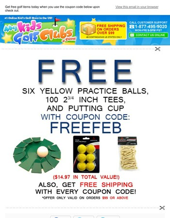 Time is running out for your free golf items.