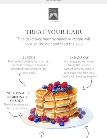 Healthy Pancakes for Optimum Hair Growth